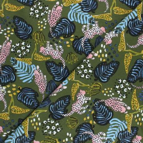 Modal Fabric By Penelope® - Green Leopard x 10cm