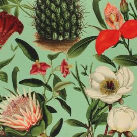 Tissu velours ras Botanique - vert x 10cm