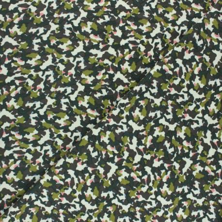 Tissu sweat léger Camouflage by Penelope® - écru x 10cm