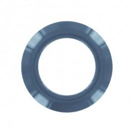 Plastic Eyelet to clip - petrol blue