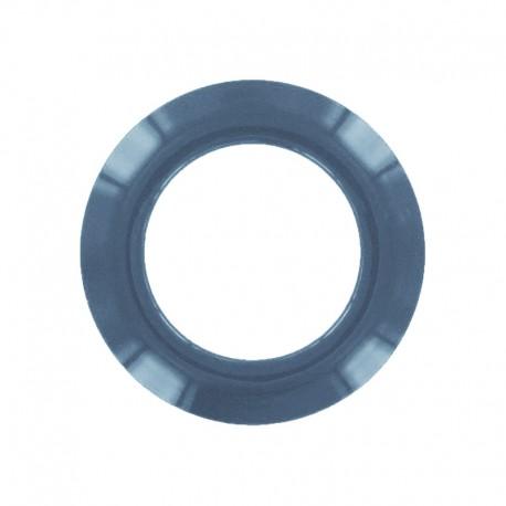 Oeillet à clipper plastique rond - bleu pétrole