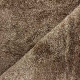 Flanell fleece fabric -  linen beige Fur imitation x 10cm