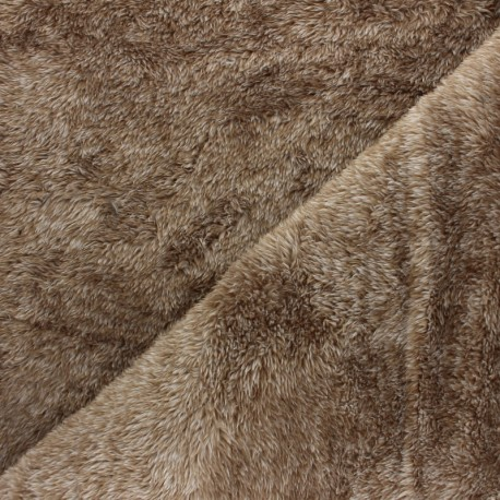 Flanell fleece fabric - dark grey Fur imitation x 10cm