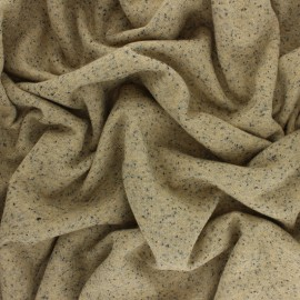 Lurex French Terry Fabric  - mottled ochre x 10cm