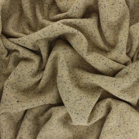 Tissu sweat léger chiné lurex - ocre x 10cm