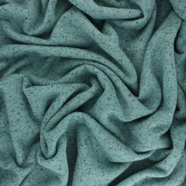 ♥ Coupon 30 cm X 150 cm ♥ Lurex French Terry Fabric  - mottled blue