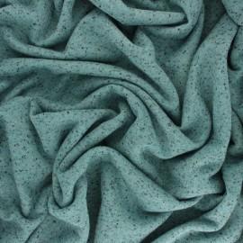 Tissu sweat léger chiné lurex - bleu  x 10cm
