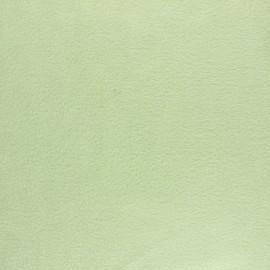 Tissu Polaire uni - vert amande x 10cm