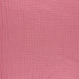 Tissu triple gaze de coton uni MPM - Bois de rose x 10cm