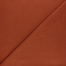 Tissu double gaze de coton MPM - Terracotta x 10cm