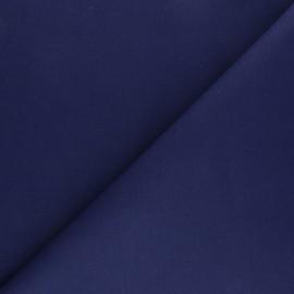 Tissu coton sergé uni - bleu marine x 10cm