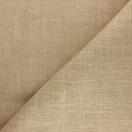 Tissu toile de jute lurex - naturel x 10cm