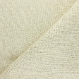 Tissu toile de jute lurex - blanc x 10cm