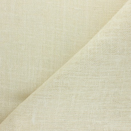 Lurex Burlap fabric - natural x 10cm