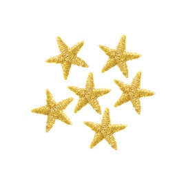 Mini Star Iron-On Patch (6 Pack) - Gold
