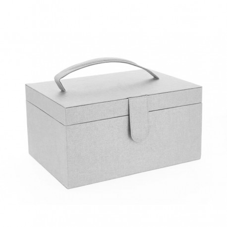 Frou-Frou Sewing Box - Shiny Silver