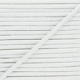 Frou-Frou Lurex Spaghetti Cord - Silver x 1m