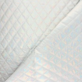Nylon quilted lining fabric - silver Fantasia x 10cm