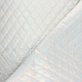 Tissu matelassé Fantasia - argent x 10cm
