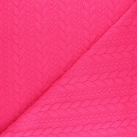 Twist jersey fabric - Pink x 10cm