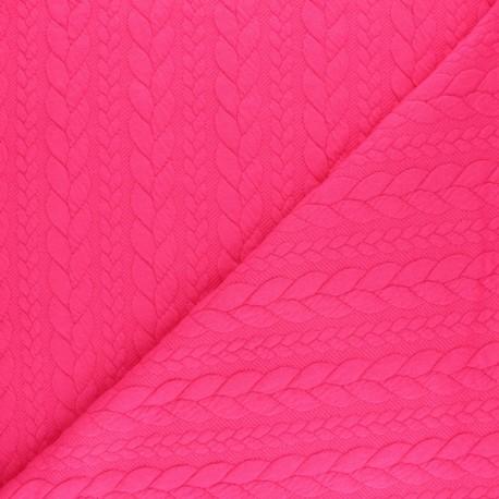 Tissu jersey Torsade - Rose x10cm