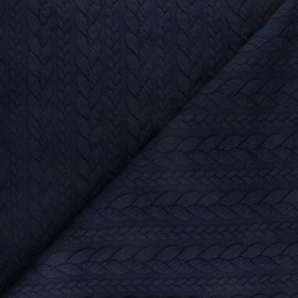 Twist jersey fabric - Navy blue x 10cm