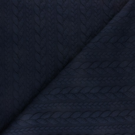 Twist jersey fabric - Navy blue x 10cm