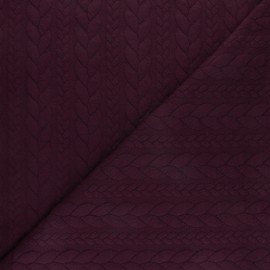 Twist jersey fabric - Plum x 10cm