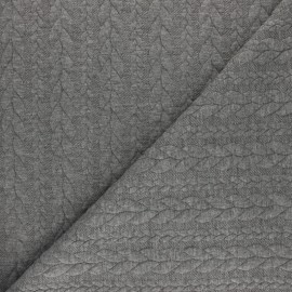 Twist jersey fabric - Mottled grey x 10cm