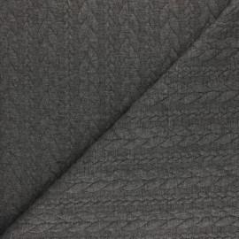 Tissu jersey Torsade - Gris anthracite x 10cm