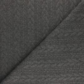 Twist jersey fabric - Anthracite grey x 10cm