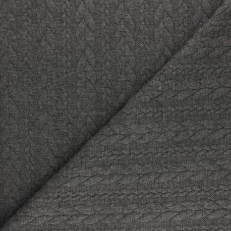 Twist jersey fabric - Anthracite grey x 10cm
