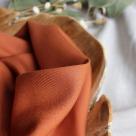 Atelier brunette tencel fabric - Chestnut x 10cm
