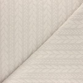 Tissu jersey Torsade - Beige x 10cm