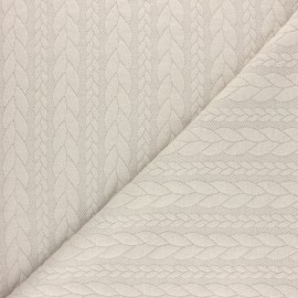 Twist jersey fabric - Beige x 10cm