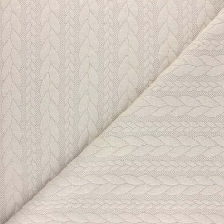 Twist jersey fabric - Beige x 10cm