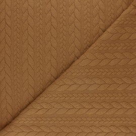 Twist jersey fabric - Ochre x 10cm