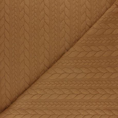 Twist jersey fabric - Ochre x 10cm