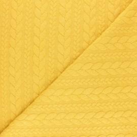 Tissu jersey Torsade - Jaune pastel x 10cm