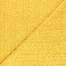 Twist jersey fabric - Pastel yellow x 10cm