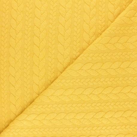 Twist jersey fabric - Pastel yellow x 10cm