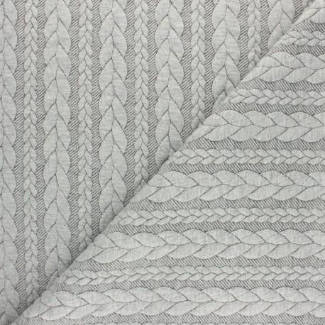 Twist jersey fabric - Light mottled grey x 10cm