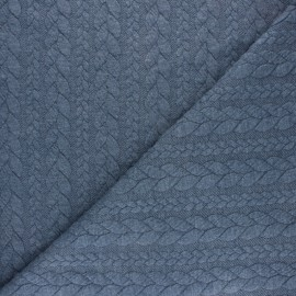 Twist jersey fabric - Mottled blue x 10cm