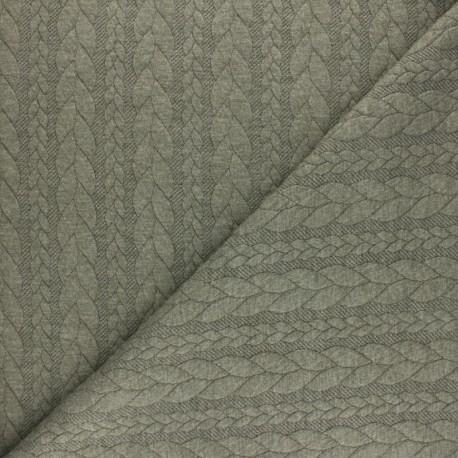 Twist jersey fabric - Mottled blue x 10cm