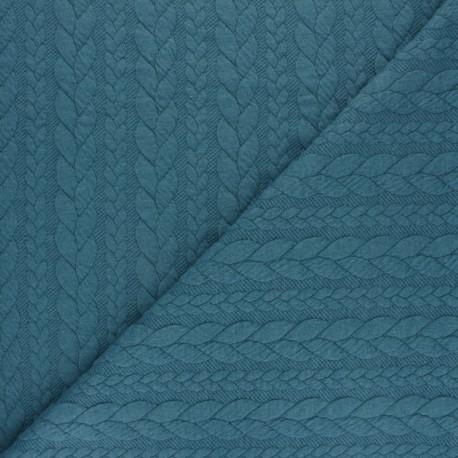 Tissu jersey Torsade - Rouge chiné x 10cm