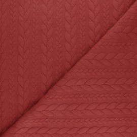 Twist jersey fabric - Red brick x 10cm