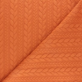 Twist jersey fabric - Pumpkin x 10cm