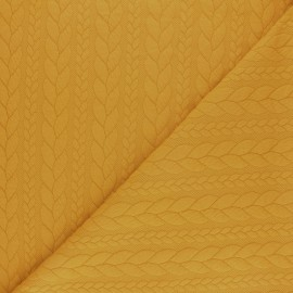 Twist jersey fabric - Mustard yellow x 10cm