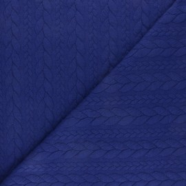 Twist jersey fabric - Blue indigo x 10cm