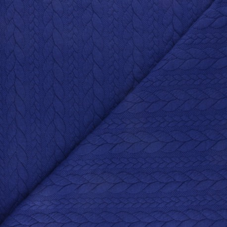 Twist jersey fabric - Blue indigo x 10cm